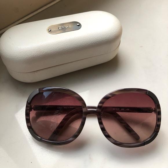Chloe Oversize Gradient Myrte Sunglasses